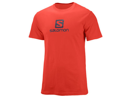Salomon Mc Coton Logo Ss Tee M (-30%) Fiery Red