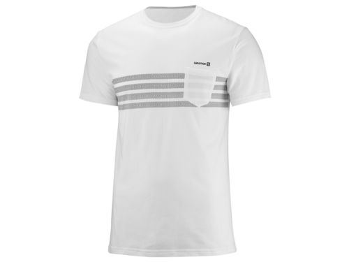 Salomon Color Block SS Tee M (-15%) Blanco