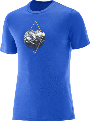 Salomon Mc X Alp Graphic Ss Tee M Azul (-40%)
